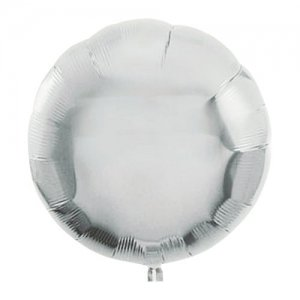 【バルーン】【約30日間浮かぶ】アイブレックス 18インチ ラウンド型 シルバー