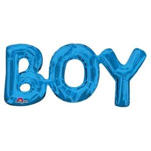 【バルーン】レターフレーズ ボーイブルー