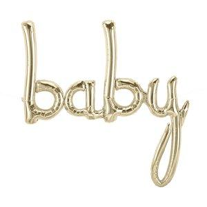 【バルーン】ベイビースクリプト ホワイトゴールド
