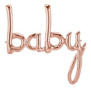 【バルーン】ベイビースクリプト ローズゴールド