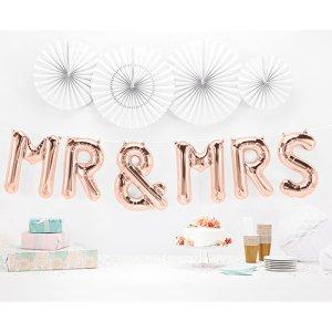 【バルーン】ミスターアンドミセス ローズゴールド