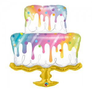 【バルーン】レインボードリップケーキ