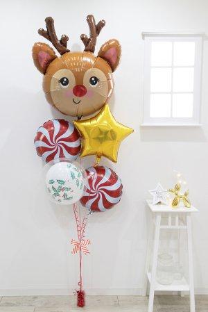 【バルーン】クリスマス レッドノーズレインディアブーケ