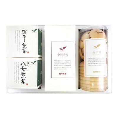 最中(大・小)/小豆あん/深蒸し煎茶/八女煎茶 ギフト M4-310B