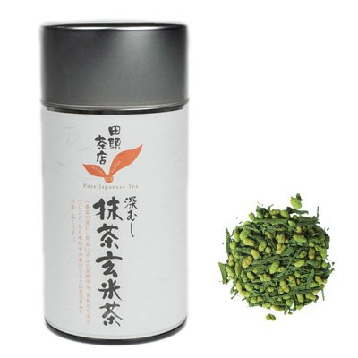 抹茶玄米茶 150g(茶葉缶入り)