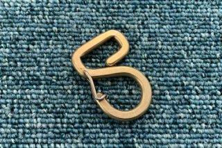 オリジナルカラビナ 「2」型 真鍮無垢