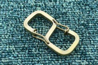 オリジナルカラビナ 角線S字ダブルバネ 真鍮無垢