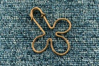 【数量限定!】オリジナルキーホルダー#011 クローバー 真鍮無垢