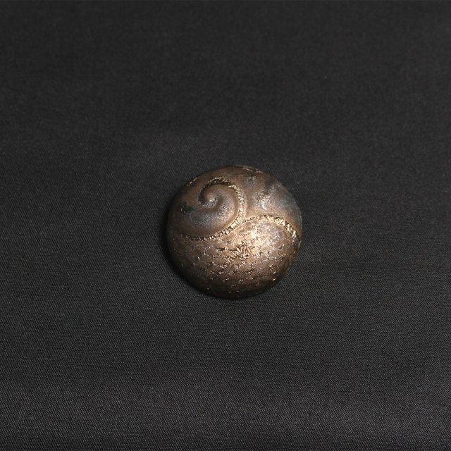 黄金のスケまる【陶器スケーリーフットの箸置き】