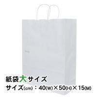 ギフトバッグ(紙袋) シンプル サイズ:大 (幅40×高さ50×マチ幅15cm)