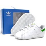 【adidas】ベビーサイズ STAN SMITH CRIB  (11cm/USサイズ3K) WH/GN