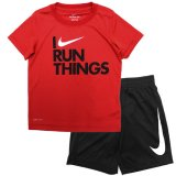 <img class='new_mark_img1' src='//img.shop-pro.jp/img/new/icons20.gif' style='border:none;display:inline;margin:0px;padding:0px;width:auto;' />30%OFF【NIKE】DRI-FIT Tシャツ上下セット (104-116cm) RD/BK