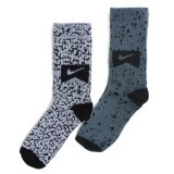 【NIKE】コンクリート&セメント柄  靴下2足セット (16-19cm) GY/CGY