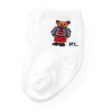 【RALPH LAUREN】靴下 0-6ヶ月用  マリーンポロベア 男の子 (約8-11cm) WH