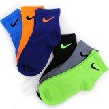 【NIKE】 6カラー スウッシュ靴下6足セット LOW (10-18cm) OR/GY