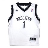 【adidas】BROOKLYN NETS ゲームシャツ (110-120cm) WH