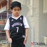 【adidas】BROOKLYN NETS ゲームシャツ (110-120cm) BK