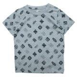 【NIKE】DRI-FIT ミックスロゴ総柄 Tシャツ (96-122cm) GY