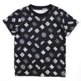 【NIKE】DRI-FIT ミックスロゴ総柄 Tシャツ (96-122cm) BK