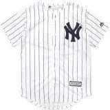 【Majestic】NYヤンキース ベースボールシャツ (130-170cm) WH/NV