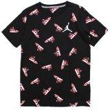 【JORDAN】総柄AJ1 ファミコンドット Tシャツ (128-170cm) BK