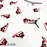 【JORDAN】総柄AJ1 ファミコンドット Tシャツ (128-170cm) WH