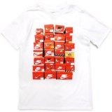 【NIKE】スニーカーBOX Tシャツ (128-170cm) WH