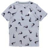 【JORDAN】総柄AJ1 ファミコンドット Tシャツ (128-170cm) GY