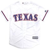 <img class='new_mark_img1' src='//img.shop-pro.jp/img/new/icons20.gif' style='border:none;display:inline;margin:0px;padding:0px;width:auto;' />30%OFF【Majestic】TEXAS レンジャーズ ベースボールシャツ (130-170cm) WH