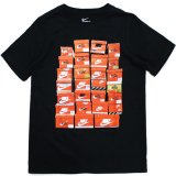 【NIKE】スニーカーBOX Tシャツ (128-170cm) BK