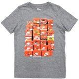 【NIKE】スニーカーBOX Tシャツ (128-170cm) GY
