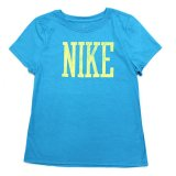 【NIKE】<女の子>NIKEロゴ クラックプリント Tシャツ (110-150cm) TQ