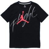 【JORDAN】Flightビッグロゴ Tシャツ (128-158cm)  BK/IRD