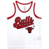 【UNK】シカゴ・ブルズ メッシュ ゲームシャツ (130-160cm) WH