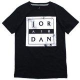 【JORDAN】マーブル柄 BOXロゴ Tシャツ (128-170cm) BK