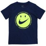 【NIKE】スマイルスウッシュ  半袖Tシャツ (96-122cm) NV