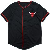 【UNK】シカゴ・ブルズ ベースボールシャツ (130-160cm) BK/RD