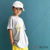【Calvin Klein】CK ロゴ半袖Tシャツ (128-158cm) GY/YL