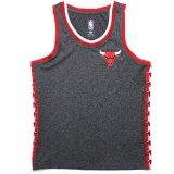 【UNK】ブルズ サイドロゴライン ゲームシャツ (130-160cm) GY/RD