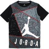 【JORDAN】マルチフロント総柄 Tシャツ (128-170cm) BK