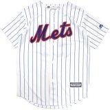 【Majestic】NYメッツ ベースボールシャツ (130-170cm) WH/BL