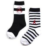【JORDAN】 ボーダー 靴下2足セット (約13-17cm) WH/BK