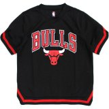 【UNK】シカゴ・ブルズ フットボールシャツ (130-160cm) BK/RD