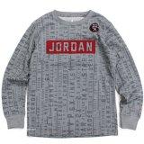 【JORDAN】 総柄BOXロゴ 長袖ロングスリーブTシャツ (158-170cm) GY