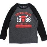 【UNK】シカゴ・ブルズ サーマル 長袖Tシャツ (130-160cm) BK/GY