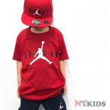 【JORDAN】スタンダードロゴ Tシャツ (128-170cm) RD
