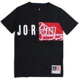 【JORDAN】ウィングス切り返しロゴ Tシャツ (128-170cm) BK