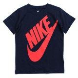 【NIKE】BIGフューチュラ 半袖Tシャツ (96-122cm) NV/RD