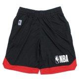 【NBAオフィシャル】NBAロゴ ショートパンツ (130-160cm) BK/RD