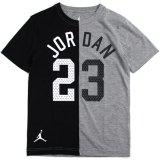 【JORDAN】2トーン切返し アーチロゴ#23 Tシャツ (128-170cm) GY/BK